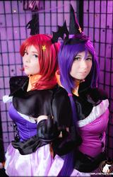 Két leszbikus cosplay tini