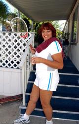 Amatőr Cigány Nagy Cicis Anya Teniszezik 736 - 5/68 kép
